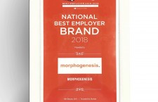 Morphogenesis wins the National Best Employer Brand Award at the recent Employer Brand Awards in Mumbai