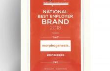 Morphogenesis wins the National Best Employer Brand Award at the recent Employer Brand Awards in Mumbai